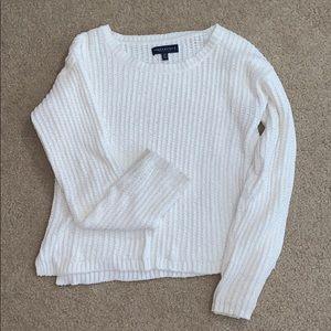 White Knit Sweater Aeropostale size Large, SO SOFT
